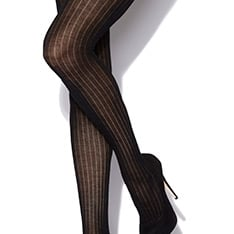 Rib wool tights