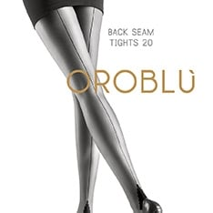 Riga seamed tights with pyramid heel