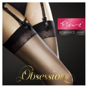 b6a42d042 Romance 20 denier matt stockings with detailed top bands · Fiore ...