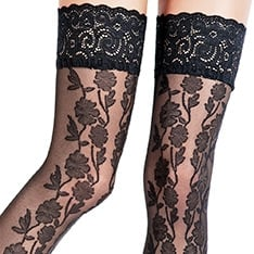Rosalie lace effect hold-ups  - SAVE 17%!