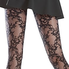 Rosemary lace effect tights