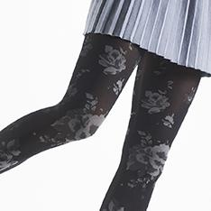 Rosita floral opaque tights