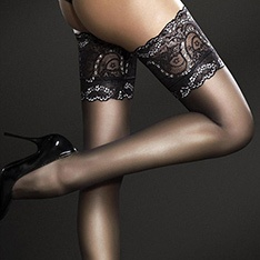 Sandrine lace top hold-ups
