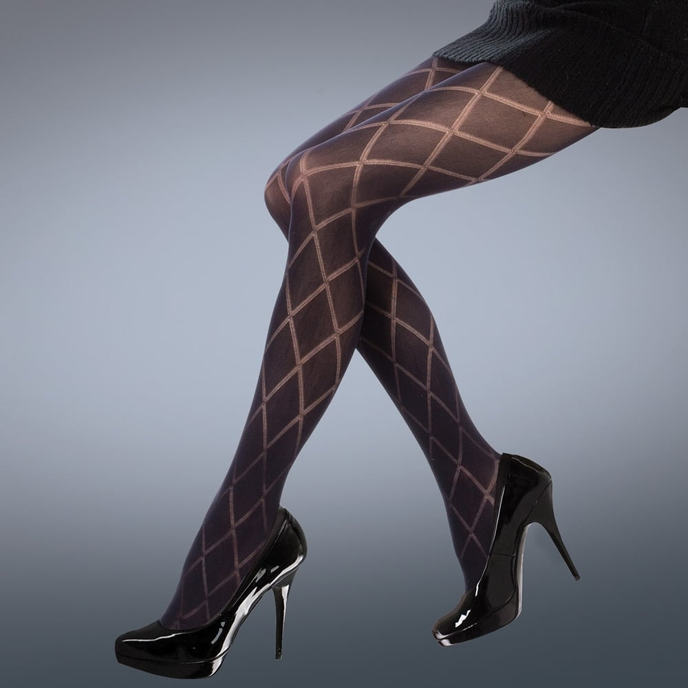 7d0ed9777e0 Silky Scarlet Diamond Opaque tights at Stockings HQ the Silky ...