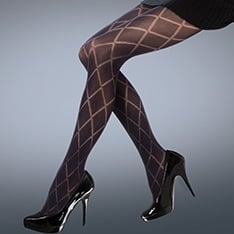 Scarlet Diamond Opaque tights