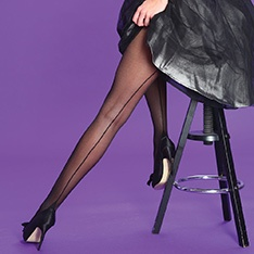 Scarlet Seamer seamed tights