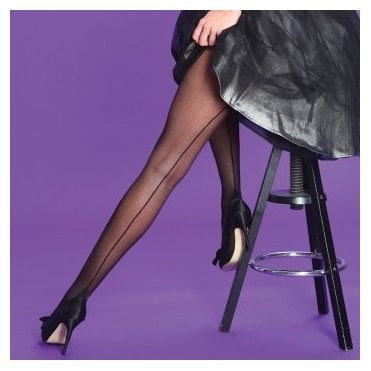 Silky Scarlet Seamer seamed tights