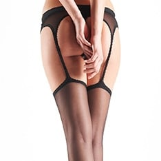 Sensual suspender tights