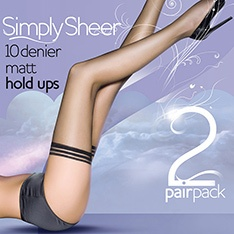 Simply Sheer 10 denier hold-ups - 2 pair pack