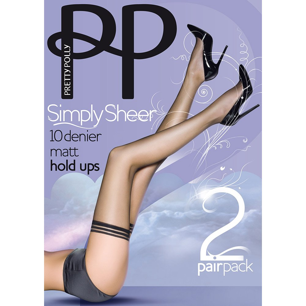 Pretty Polly Simply Sheer 10 denier hold-ups - 2 pair pack