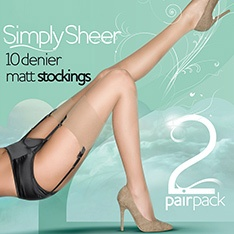 Simply Sheer 10 denier stockings - 2 pair pack