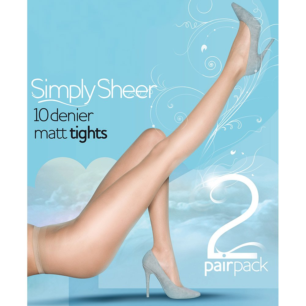 Pretty Polly Simply Sheer 10 denier tights - 2 pair pack - SAVE 34%!