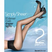 Pretty Polly Simply Sheer secret slimmer tights - 2PP - end of line - SAVE 38%!