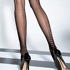 Sobella 20 denier dotted backseam tights