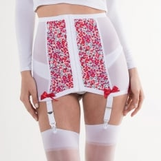 Hallowed Rose Sweet Red Abstract Cherry waist cincher