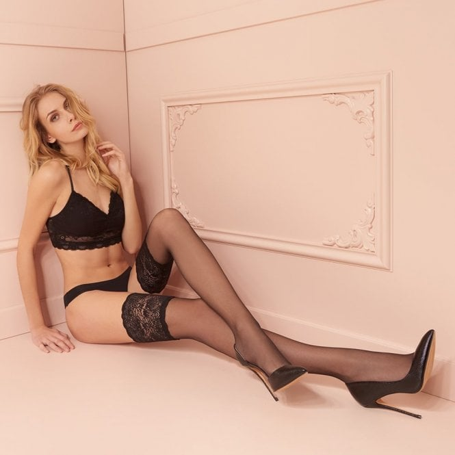 Trasparenze Carlotta 30 denier lace top hold-ups