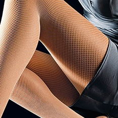 Tricot micro fishnet tights
