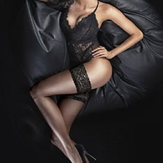 Ultra Gloss lace top hold-ups