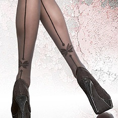 Vellana heel motif backseam tights