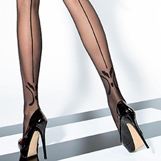 Vienna 20 denier backseam tights