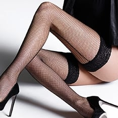Vintage Legs fishnet backseam hold-ups