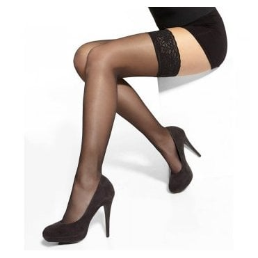 Adrian Vivian deep lace-top hold-ups