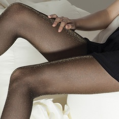 Vlinder soft lurex sparkle tights