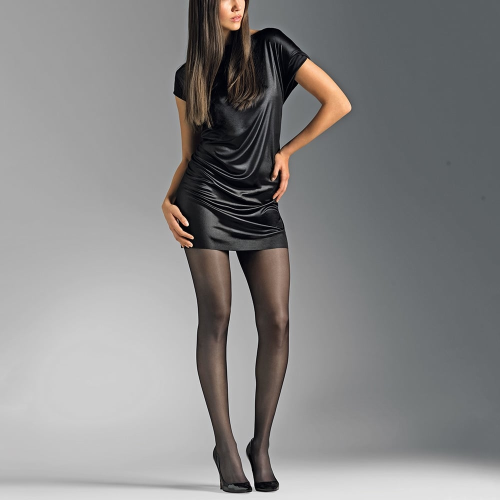 be6a31a615a Le Bourget Voilance satin finish tights at Strumpfhosen Und Mehr the ...